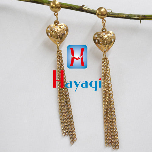 Dangler Heart Shape Earrings Designer Earring _ Online Hayagi(Pune)
