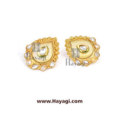 Earrings Golden Finish Tops Buy Online - Hayagi