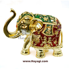 Decorative Elephant/Gajantlaxmi/ Gajlaxmi Gold Finish Statue For Gift-Hayagi