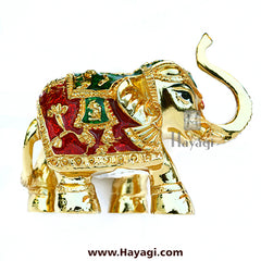 Decorative Elephant/Gajantlaxmi/ Gajlaxmi Statue Gold Finish For -Hayagi