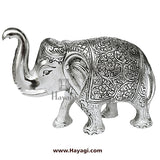 Metal Single Elephant/Gajalaxmi in Silver Finish Gifting Item- Hayagi