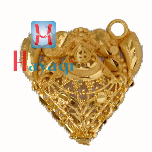 Pendant Dot Design in Forming Gold Polish - Hayagi(Pune)