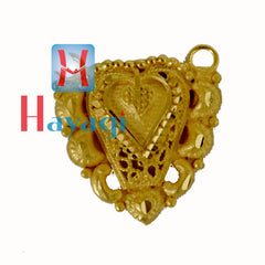 Pendant heart Design in Forming Gold Polish - Hayagi(Pune)