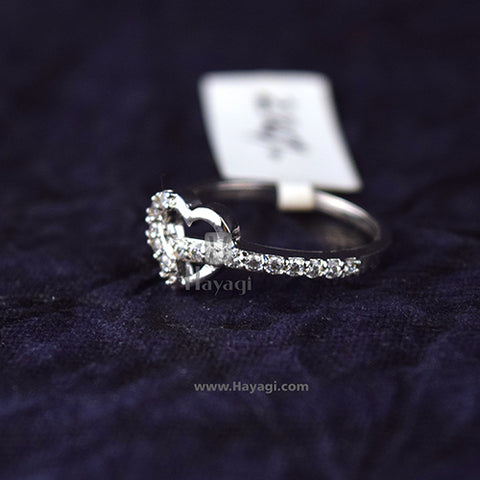 Finger Ring, AD Designer Finger Ring In Heart Shape Buy Online - Hayagi