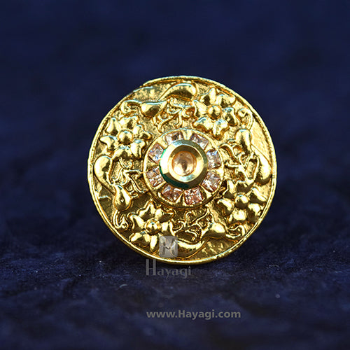 Finger Ring Golden Beautiful Stones Design In Buy Online-Hayagi