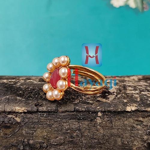 Finger Ring Beautiful Pearl Design Buy online_Hayagi(Pune)