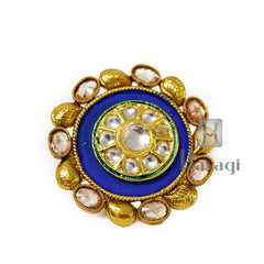 Circle Finger Ring Leaf Design,Blue Outer Circle Buy Online-Hayagi