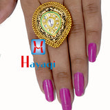 Ring Dot Design With Black Colour Polish Buy Online-Hayagi