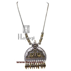 Fashion Jewellery, Gold Oxidized Pendent Online-  Hayagi