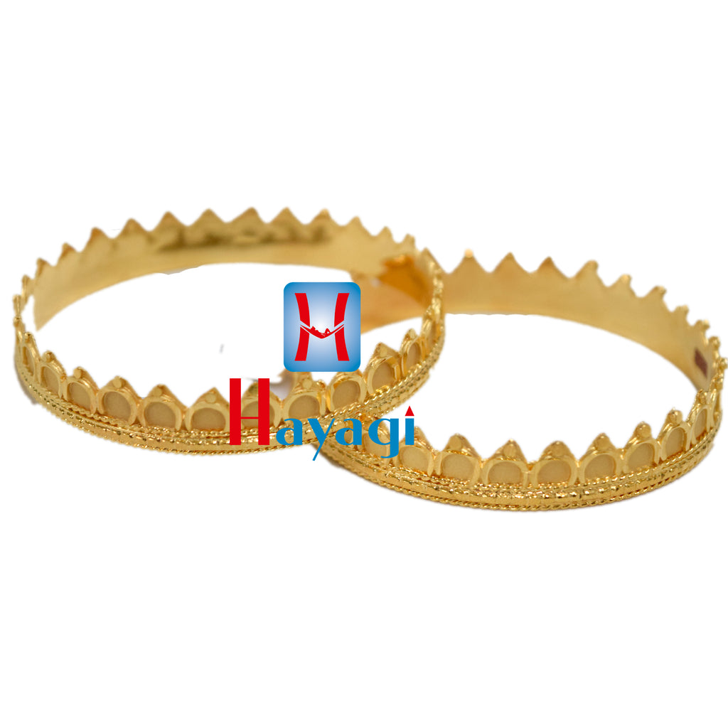 Crown Design 1G Bangles Design Set Buy Online_Hayagi(Pune)
