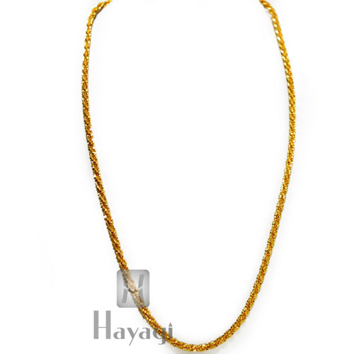 Men's Women 1 Gram Gold Filled twist rope chain Online -Hayagi