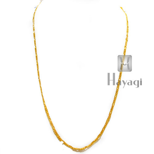Fashion Women Men 1 Gram Gold Plated Rope Chain_Hayagi(Pune)