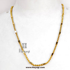 Men's 1 Gram Gold Thick Chain -Hayagi