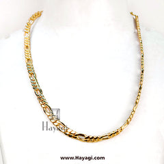 Men's Broad 1 Gram Gold Chain -Hayagi