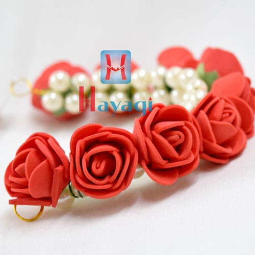 Hair Bun Red Rose Mogra Flowers Online_Hayagi(Pune)
