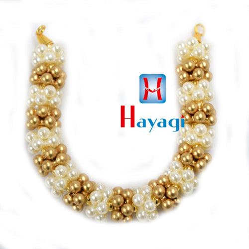 Gajara Golden & Off White Pearl Gajara For Women Online_Hayagi(Pune)