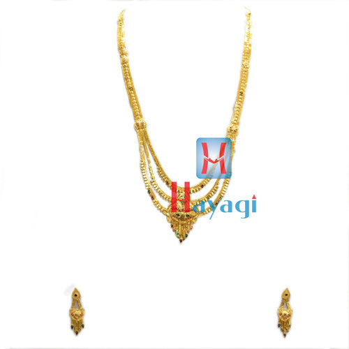 Rani Haar 1 Gram Necklace Multicolour Design Online -Hayagi