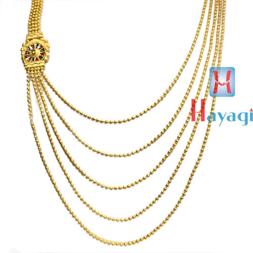 1 Gram  Necklace 5 Line Multicolour Design Online -Hayagi Pune