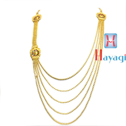 1 Gram  Necklace 5 Line Multicolour Design Online_Hayagi Pune