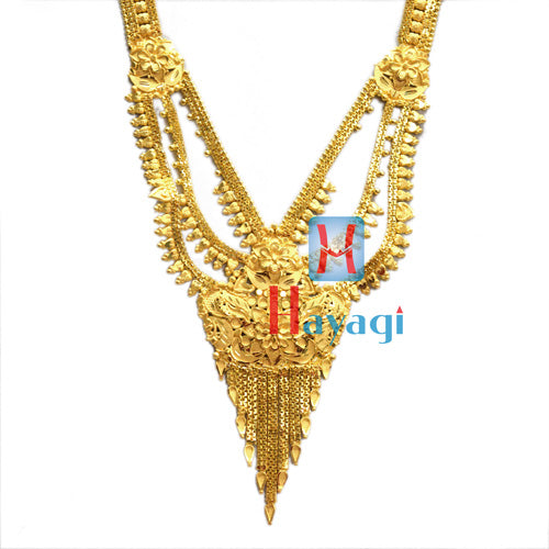 Rani Haar 1 Gram  Necklace Single Line Flower Design Online -Hayagi