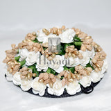 White Rose Flowers Hair Bun Ambada For Women Online-Hayagi