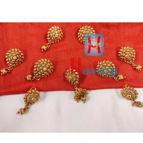 Braid Accessory Jadai in Copper Metal Golden Jewelry Online -Hayagi Pune