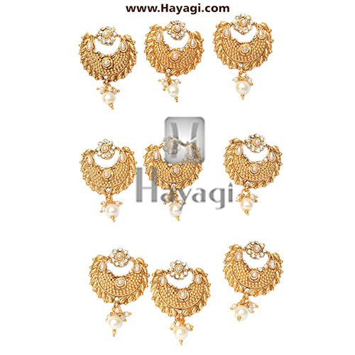 Bridal Hair Accessory, Naga Jadai in Gold, Bridal Hair Pin - Hayagi - Beeline  - 1