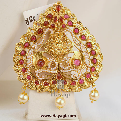 Temple Kemp Pearl Hair Brooch Bun Pin For Women Online-Hayagi