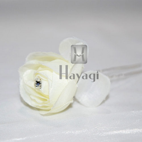 White Artificial Rose Flower Wedding Bride Party & Home Decor Online -Hayagi