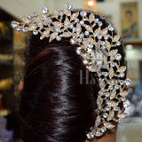 Ethnic White Bun Pin Hair Accessory Indian Traditional Fashion Jewellery For Women Online -Hayagi