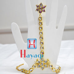 Bracelet with Finger Ring Pair Hath Phool Panja - Hayagi