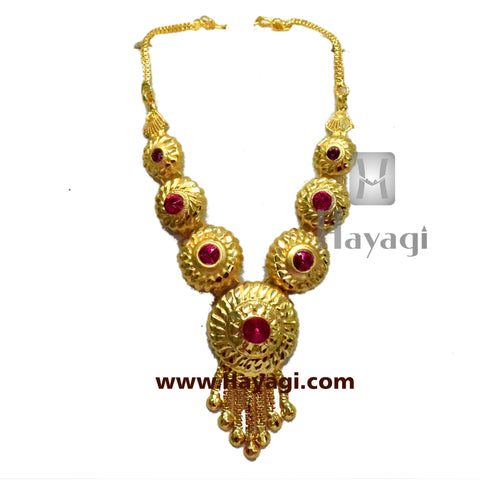 Haar for Ganesh Ganapati Traditional Necklace Online-Hayagi