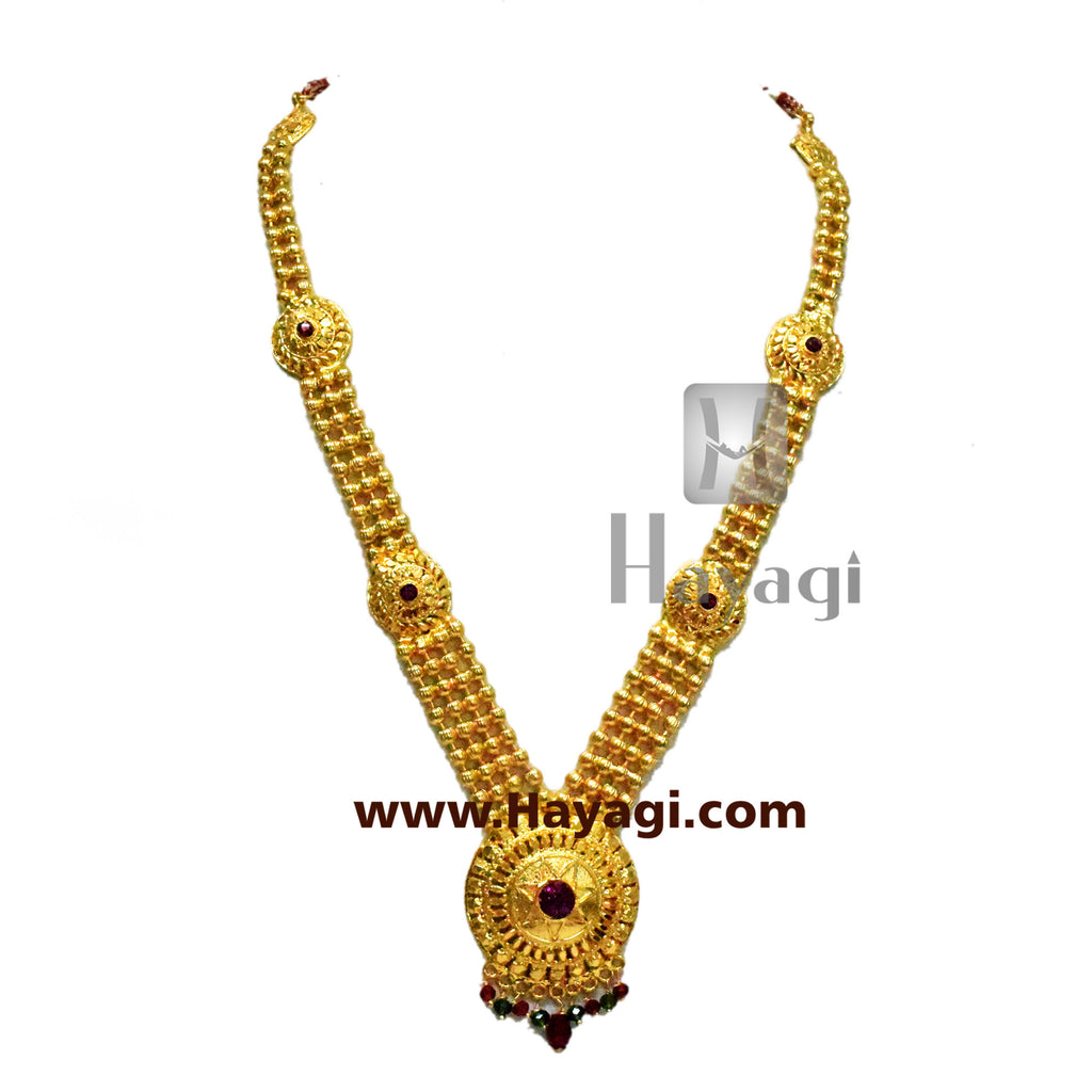 Long Haar for Ganesh Ganapati Traditional Necklace Online-Hayagi