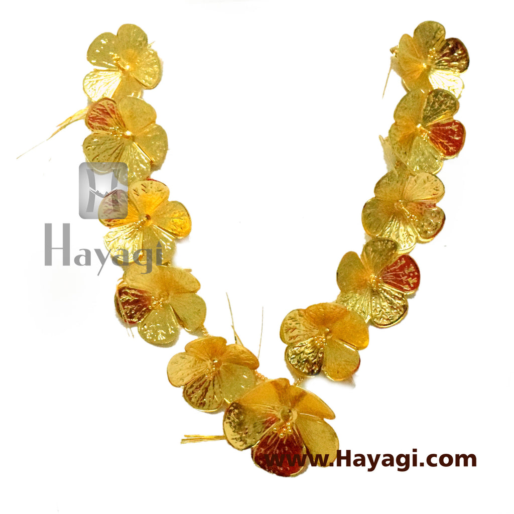 Hibiscus/ Jaswand Drva Haar for Ganesh Ganapati Traditional Necklace -Hayagi