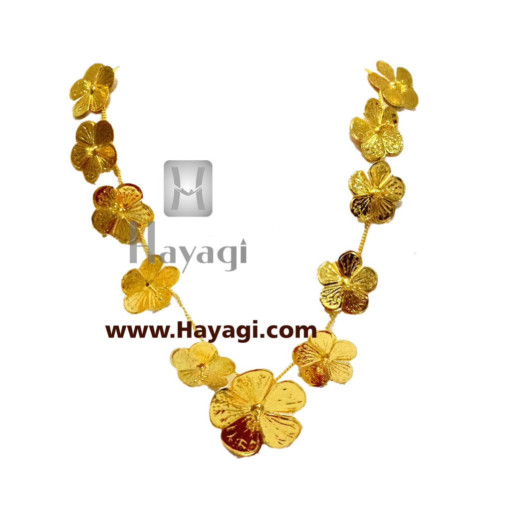 Hibiscus/ Jaswand Haar for Ganapati Traditional Necklace -Hayagi