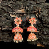 Pantone Shade Double Jhumki Earrings_Hayagi (Pune)