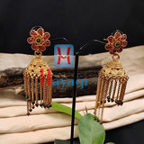 Jhumka Multicolour Long Designed For Bride_Hayagi(Pune)