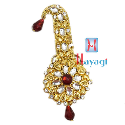 Dulha Kalangi Design in Maroon Colour With White Stones
