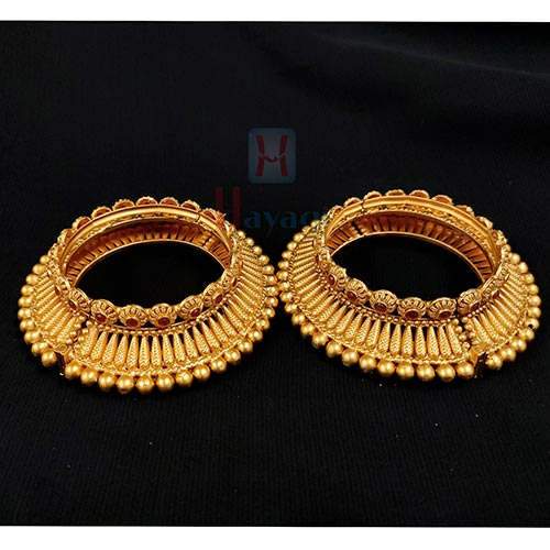 Brass Broad Openable Kada/ Bangles Antique Rajwada Look  _Hayagi (Pune)