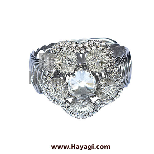 Beautiful Silver Kada With Stone Buy Online-Hayagi