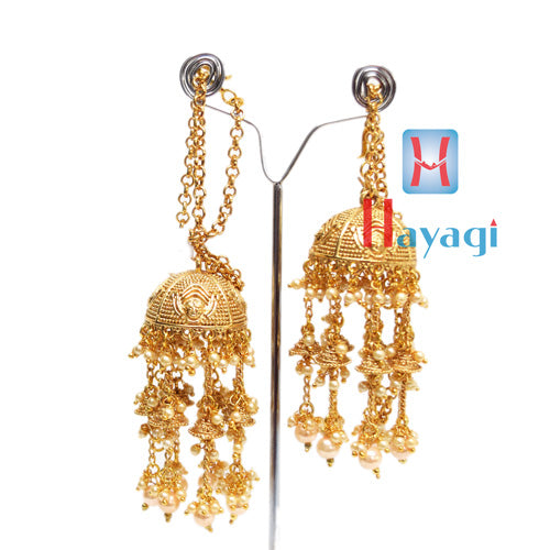 Traditional Kalire With Golden Colour Design White Stones for Women