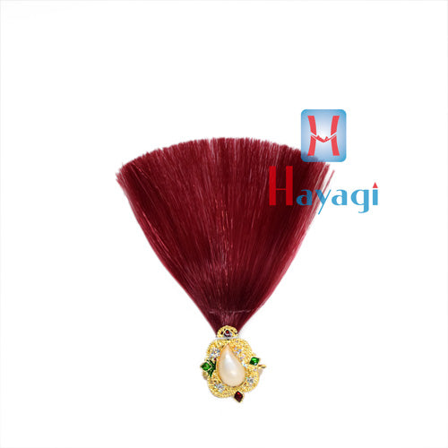 Dulha Kalangi Feather Design in Maroon Colour With Brooch