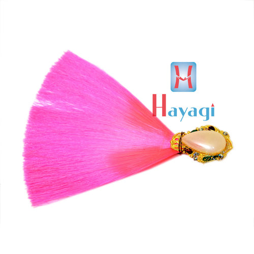 Dulha Kalangi Feather Design in Pink Colour With Brooch
