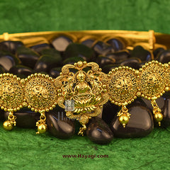 Kamarband Laxmi Waistbelt Temple Jewellery Golden Broad Buy Online-Hayagi