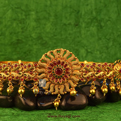 Kamarband Flower Design Waistbelt Temple Jewellery Buy Online-Hayagi