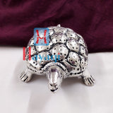 Metal Solid Tortoise in Silver Finish Gifting Item- Hayagi