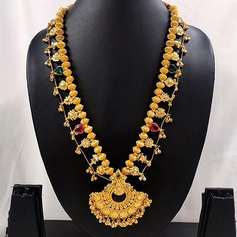 Kolhapuri Saaj in Temple Pendant Micro Gold Finish- Hayagi(Pune)