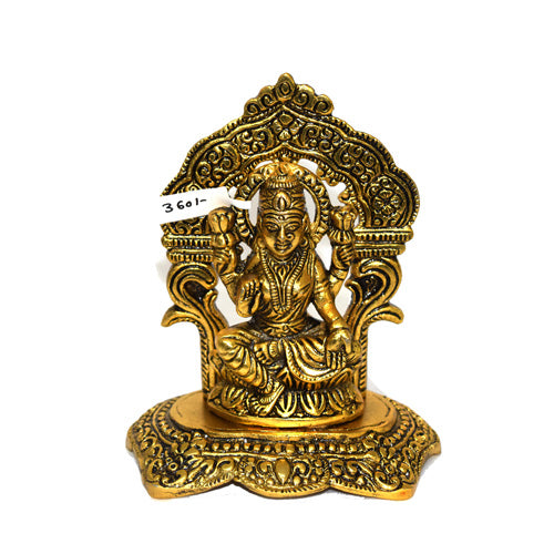 Godess laxmi Sitting Statue In Gold Finish Online- Hayagi