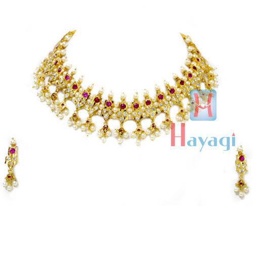21 Peti Chinchpeti Haar in 3 Strings Pearl Haar Online India - Hayagi