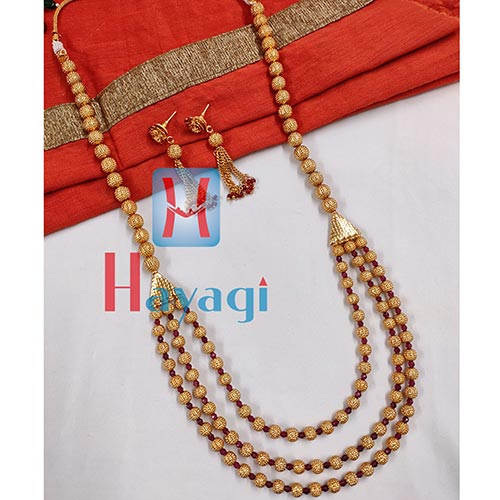 Long Necklace 3 String Green Bormala_Hayagi(Pune)